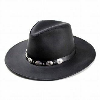 美國生產公司-0235年-14 皮革牛仔帽帽子黑色軟呢帽帽牛仔帽西部帽子 [HENSCHEL] (黑色真皮皮革冬天帽子和帽子帽帽子西部牛仔帽西部) [牛仔帽]
