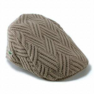 編み柄がかわいいニットハンチング 帽子帽子/ニット/ハンチング/メンズ/ニットハンチング/ブラ...