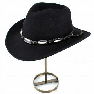 男式牛仔帽子大尺寸和亨舍爾秋/冬帽子感到 HENSCHEL 軟呢帽牛仔帽西部帽子羊毛皮革腰帶黑色 (秋/冬帽子 Fedora 西方) [牛仔帽、 氊帽和毛氊帽