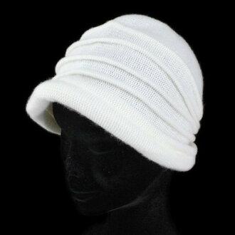 保暖帽帽子女式帽子針織帽女士豪華羊絨原料編織敞篷婦女羊絨時尚未命中帽子羊絨溫暖冬季專案冬季配套的溫暖禮物婦女 40s 50s 60s 聖誕一種尺寸適合所有日本白色帽帽