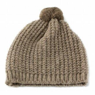 女裝針織帽 Bon Bon 針織女孩 ELLEgirl 埃爾加米色 (針織帽子針織帽,保暖帽針織時裝流行可愛)
