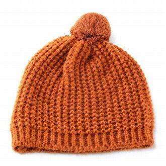 女裝針織帽 Bon Bon 針織女孩 ELLEgirl 埃爾加橙色 (針織帽子針織帽,保暖帽針織時裝流行可愛)