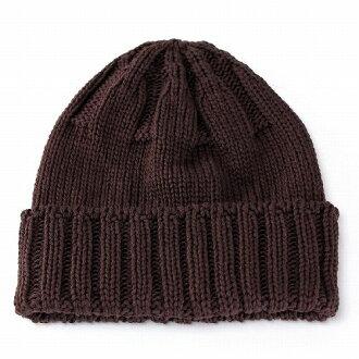 淨手錶男士帽子女士帽棉 CoolMax 針織帽春季時尚 / 棕色棕色 (冠帽和手錶針織的帽棉帽手錶)