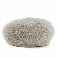 ベレー帽春夏帽子レディース大きめゆったりシルエットサマーニット通気性抜群日本製