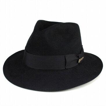帽子 メンズ ハット つば広 インディ・ジョーンズ ワイドブリム INDY hat ファーフェルト 秋 ぼうし 冬 中折れハット Indiana Jones 黒 ブラック 紳士 男性用 小物 プレゼント ギフト 高級 上品 [fedora] フェルトハット フェルト ハット