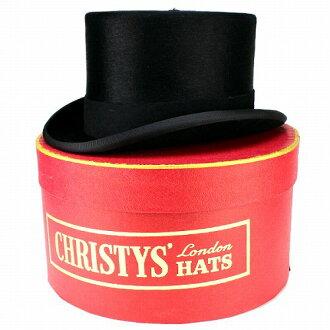 供促銷减30%大禮帽人最高級Rabbit毛皮氈帽子紳士帽子正式正裝婚禮帽子克麗絲蒂絲倫敦CHRISTYS'LONDON黑色黑紳士男性使用的禮物父親節高級傳統風格高雅的[top hat]氈帽子氈帽子