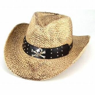 牛仔帽帽帽子男裝女裝秸稈牛仔春/夏西方自然 (帽子紳士帽帽和帽子的西部牛仔帽草帽帽帽子帽子男士帽子 Fedora 西方) [牛仔帽]