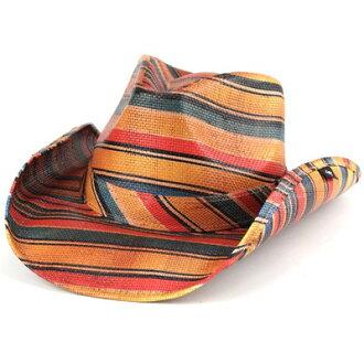 [牛仔帽、 牛仔帽男士墨西哥西部帽子女士牛仔春夏邊緣寬帽子 Fedora 彼得格林 pgd9205 LORETO 多條紋 (帽子牛仔帽 40 年代 50 年代 60 年代 70 年代時尚西部平原)