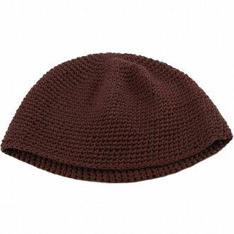 綠色針織帽所有季節室內帽男裝女裝棉都針織短手錶棉帽皮膚醫療帽子帽型抗癌藥物蓋醫院章和和平的日本制都針織棉暗棕色褐色 [豆豆,