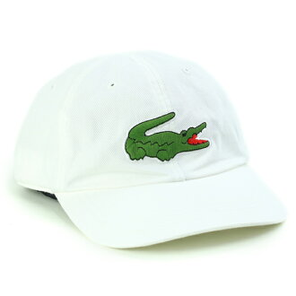 lacoste蓋子全部季節拉科斯特6一方蓋子人蓋子女士CAP春天涼帽鱷魚標記名牌鱷魚刺綉katsuragi秋天冬天帽子紳士棒球帽打扮一洗滌加工日本製造灰白[cap]