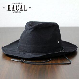 拉卡爾牛仔帽男子拉繩帽子當地夏季牛仔帽遮陽篷領寬帽子 Fedora 帽子大小可調石蠟加工黑了在日本 [牛仔帽] (30 多歲 40 多歲 50 年代 60 年代 70 年代時尚西方帽子 Fedora 雙關)