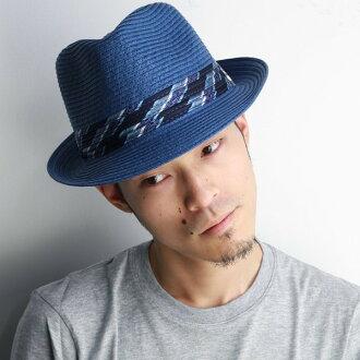 帽子男士草帽春夏季草帽帽子桑塔納卡洛斯草帽男子卡洛斯 · 桑塔納帽子桑塔納紙刀片春天夏天甚而帽子男士的帽子男士紀念品藍色藍色 [草帽