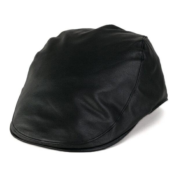 ボルサリーノ レザーハンチング 羊革 メンズ ハンチング帽 シープスキン Borsalino 大きいサイズ Lサイズ LLサイズ 黒 ブラック[ivy cap](レザー 40代 60代 50代 ファッション 本革 レザー ハンチング帽子 秋冬 ブランド帽子 イタリア ボルサリーノハンチング 紳士帽子)