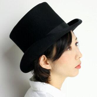 有SCALA最高層帽子女士羊毛氈帽子無向量帽子大禮帽人派對帽子假扮萬聖節帽子婚禮照片正裝帽子紳士帽子冠的高的帽子帽子秋天冬天大的尺寸XL尺寸黑黑色[top hat]氈
