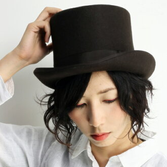 有SCALA最高層帽子女士羊毛氈帽子無向量帽子大禮帽人派對帽子假扮萬聖節帽子婚禮照片正裝帽子紳士帽子冠的高的帽子帽子秋天冬天大的尺寸XL尺寸暗褐色[top hat]氈