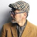 daks ハンチング チェック カシミヤ ウール 秋冬 メンズ 帽子 小さいサイズ 大きいサイズ Lサイズ LLサイズ ダックス ファッション 英国 小物 ハンチング帽 紳士 ファッション 温かい おしゃれ 小物 日本製 サイズ豊富 / ハウスチェック [ ivy cap ]