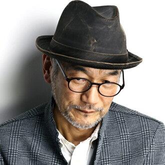 多爾夫曼太平洋帽子復古風格的帽子皮革加工棉帽帽子男大尺碼和 60 釐米 62 釐米風化棉季節甚而帽子男士的風化的棉花 DPC 帽子男士茶布朗 [fedora] 聖誕禮物