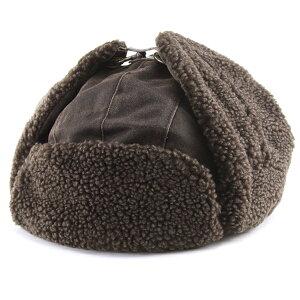 フライトキャップ ヴィンテージ風 トラッパー 飛行帽 ウェザードコットン weathered cotton DPC 帽子 メンズ サイズ豊富 大きいサイズあり 60cm 冬 コーデ トレンド ファッション 帽子 レディース 耳あて付き ボア あったかい ユニセックス / 茶 ブラウン 敬老の日