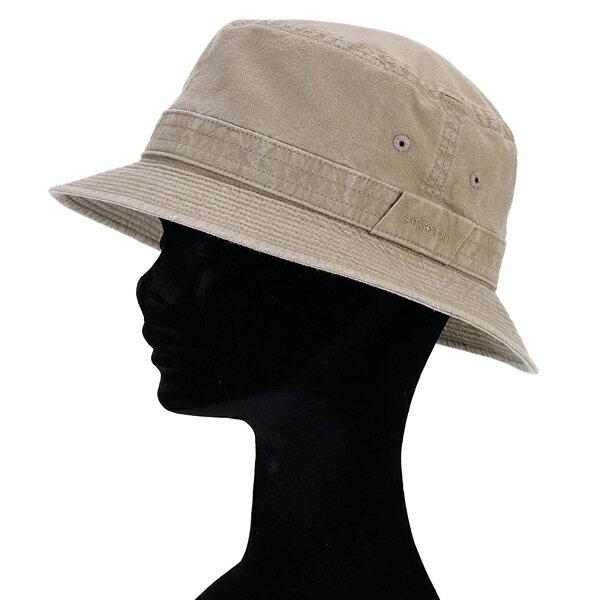 ステットソン 帽子 メンズ 春夏 小さいサイズ 大きいサイズ ウォッシュドコットン サハリ ハット stetson 日本製 折りたたみ可 サファリハット 手洗い可 バケットハット S M L LL 3L 4L 5L サイズ豊富 ベージュ [ bucket hat ] stetson 帽子通販 男性 プレゼント