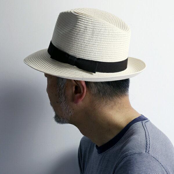 ストローハット イタリア製 ペーパー ブレード 大きいサイズ メンズ ワイド ハット 中折れ 春夏 レディース 帽子 シック GALLIANO SORBATTI ガリアーノ ソルバッティ / 白 アイボリー [ straw hat ] ギフト プレゼント