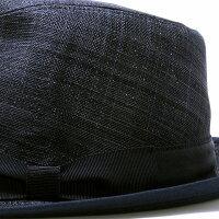 マツイハット中折れ麻100%日本製MATSUI帽子メンズ春夏中折れハットシナマイリネン中折れ帽紳士中折れ帽子りぼん涼しいMLLL3L大きいサイズサイズ調整シンプル無地/黒ブラック[fedora]敬老の日プレゼントギフト帽子