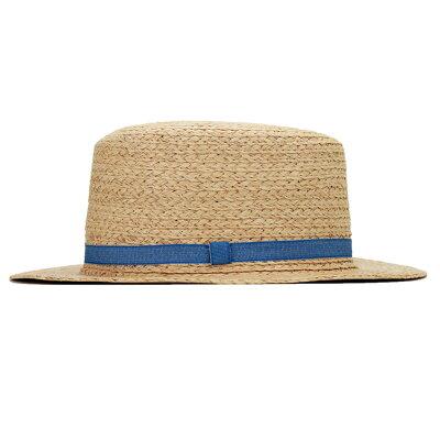 Elehelm Hat Store Boater Ribbon Denim Lady S Straw Hat