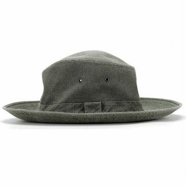 帽子 メンズ Crambes アドベンチャーハット UV加工 クランベス フランス製 レディース 紫外線対策 サファリハット 大きいサイズ ハット サハリ 日よけ アウトドア 無地 紐付き シンプル MEXICAN / GRIGNAN カーキ [ adventure hat ] 父の日 帽子 プレゼント ギフト