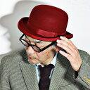 クリスティーズ ハット 秋冬 CHRISTYS' LONDON 帽子 christy's ボーラーハット クリスティーズロンドン ダービーハット フェルトハット メンズ レディース レッド 赤 ウール ウールハット フェルト 50代 60代 [bowler hat](秋冬 山高帽 ダービー ファッション 紳士帽子)