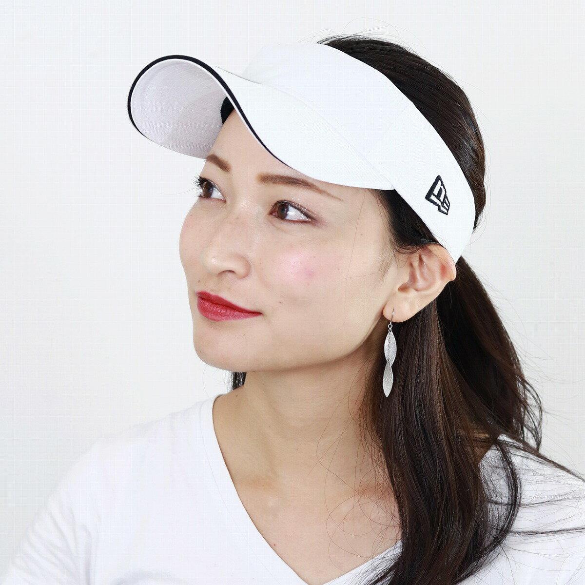 サンバイザー ニューエラ 日よけ オールシーズン 紫外線対策 NEWERA 帽子 レディース フリーサイズ スポーツ newera バイザー メンズ サイズ調整可 UV対策 小物 ユニセックス / 白 ホワイト[ visor ]