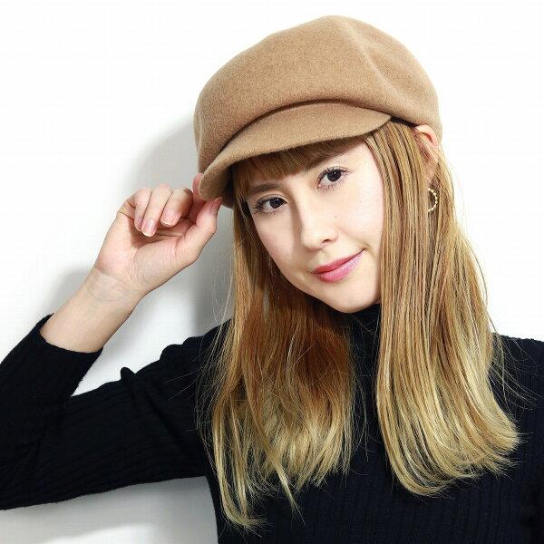 キャスケット防寒帽子レディースメリノウール婦人用帽子シンプル暖かいバスク毛100%秋冬バスクキャスケットサイズ調整可キャスケット