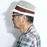 STACYADAMSカンカン帽メンズサマーハット