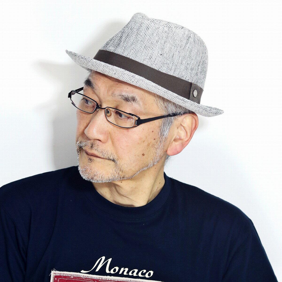 DAKS ハット メンズ カラミリネン セントポール ダックス ハット 中折れ 春 夏 麻100% 日本製 57cm 59cm 61cm daks 帽子 サイズ調整 紳士 ファッション グレー[ fedora ]男性 誕生日 帽子 父の日 ギフト プレゼント