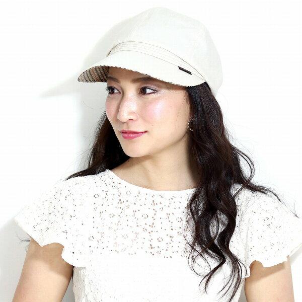 キャスケット春夏ダックスレディースシャンブレーツイルDAKS日よけ帽子サイズ調整 ミセスキャップUV加工婦人帽子紫外線カット日除