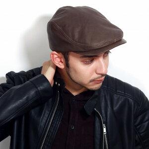 knox 帽子 メンズ 秋 冬 日本製 本革 ハンチング 牛革 ハンチング帽 紳士 茶色 ペリカンハンチング ブラウン