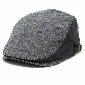 ルーベン ハンチング帽 メンズ 帽子 チェック柄 ハンチング つば長 レディース 帽子 58.5cm RUBEN ユニセックス アイビーキャップ フリーサイズ 黒 ブラック [ cap ] クリスマス プレゼント 誕生日 ギフト包装 ラッピング無料