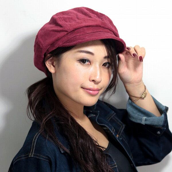 キャスケット帽メンズコーデュロイ素材ルーベン軽い帽子メッシュキャスケットレディースRUBEN帽子メンズワイン newsboyca
