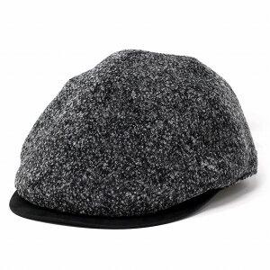 ハンチング メンズ ツイード 秋 冬 おしゃれ ミラショーン 帽子 ブークレー アイビーキャップ 紳士 ハンチング帽 クラッシック S M L LL チャコールグレー [ ivy cap ] プレゼント 40代 50代 60代 男性 帽子 通販 ELEHELM