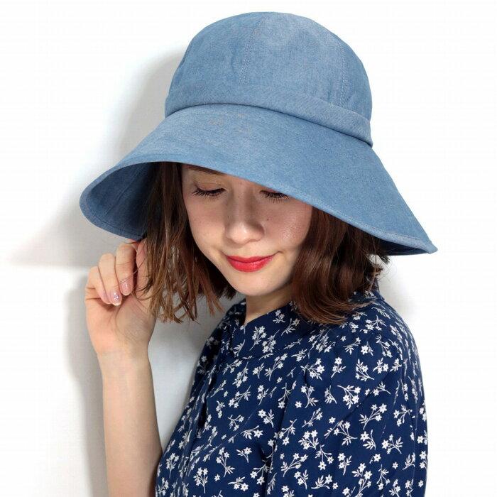日よけ帽子 大きいサイズ ハット レディース 紫外線対策 帽子 UVカット つば広ハット 遮光 帽子 ラコステ レディース 夏 ハット ミセスハット シンプル 無地 ダウンハット ワニ ブランド 日本製 紺 ネイビー [ bucket hat ] [ wide-brim hat ]