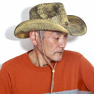 カウボーイハット メンズ 涼しい 帽子 California Hat SADDLEBACK 麦わら帽子 つば広 ウエスタン ストローハット メンズ テンガロンハット 熱中症対策 帽子 サマーハット 春夏 アウトドア 乗馬 キャンプ 日除け ティーステイン [ paper hat ] [ cowboy hat ]