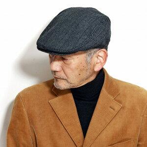 ATTABOY ハンチング帽 メンズ ヘリンボーン インポート 帽子 メンズ DPC ハンチング メンズ ドーフマンパシフィック ハンチング帽子 アイビーキャップ グレー [ cap ] 男性 ファッション 40代 50代 60代 帽子通販 ギフト クリスマス 誕生日 プレゼント ラッピング無料