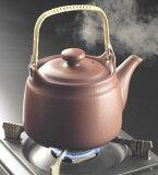 是一個普通的金屬水壺茶葉及中草藥煮的健康 『土瓶的耐火藥品的1.8升』[耐熱薬土瓶『直火用』1.8リットル用日本製 常滑焼]