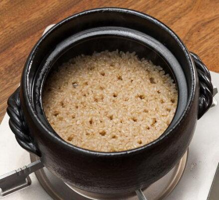 萬古焼三鈴窯玄米ごはん土鍋二合炊
