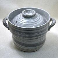 美濃焼 電子レンジ ごはん鍋1.5合炊 日本製陶器 2重蓋