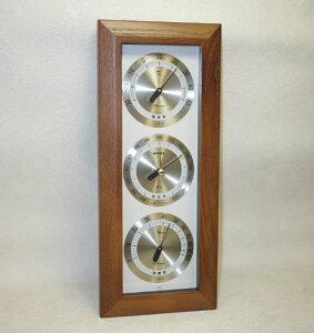 気圧計装備の温度湿度計で天気を予測温度・湿度・気圧計3連装備のアトモス気象計【楽ギフ_包装】