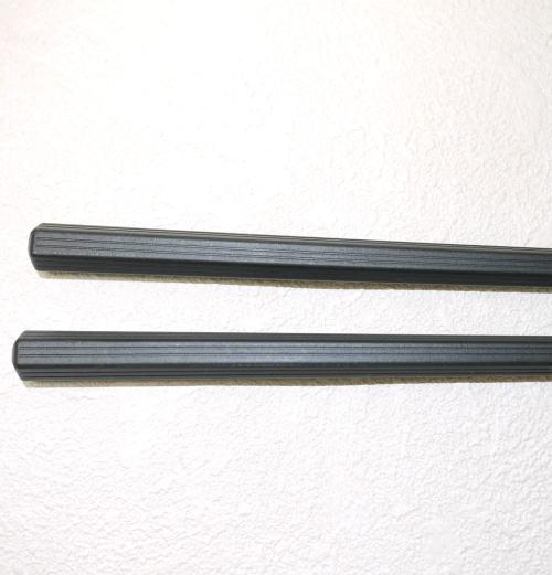 SPS樹脂箸 新六角 黒 滑り止加工