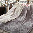 【送料無料】 毛布 ダブル 北欧 モダンスタイル 上質フランネル ふんわり 1枚毛布 かわいい おしゃれ おすすめ 暖かい 冬 白