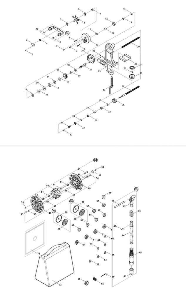 【部品】塩抜き伸縮スプール(39204)パーツNo.68[第一精工リサイクラーDSフル装備]