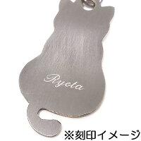 黒猫チャームのシルバーブックマーカー(しおり:栞)