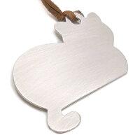 猫の銀製シルエットブックマーカー