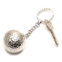 実物大ゴルフボールのシルバーキーホルダー